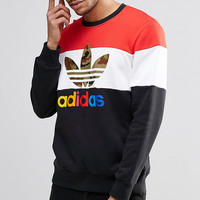 New adidas fleece male 2016 autumn thin sports sweater render unlined upper garment
