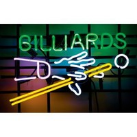 Billiards Hands & Cues Neon Pub Sign - Home Bar Decor at Hayneedle