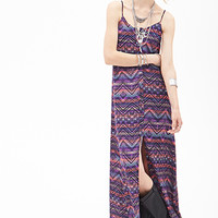FOREVER 21 Tribal Print Maxi Dress Black/Pink