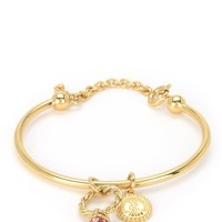Gold Ruby Ring Slider Bangle Bracelet by Juicy Couture, O/S