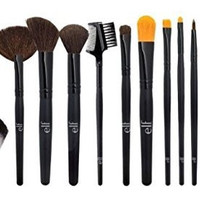 E.l.f. Cosmetics Luxury Brush Collection, 10-Piece Brush And Kabuki Set