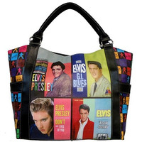 Colorful Licensed Elvis Presley Shopping Bag