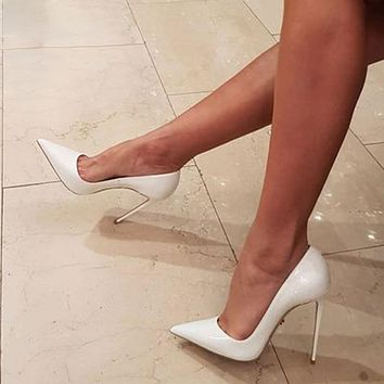 High Heels Stiletto Pumps Bridal Wedding Shoes Simple Classic Women's Shhoes High Heeled Pumps Shoes