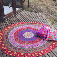 By The Moon - Columbia Mandala Throw - Round