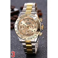 Rolex Trending Women Men Stylish Diamond Movement Wristwatch Business Couple Watch