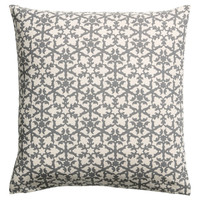 Patterned cushion cover - Khaki green/Natural white - Home All | H&M GB