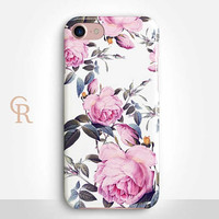 Floral Phone Case Case For iPhone 8 iPhone 8 Plus - iPhone X - iPhone 7 Plus - iPhone 6 - iPhone 6S - iPhone SE - Samsung S8 - iPhone 5