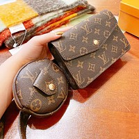 Inseva Louis Vuitton LV  Fashion Women Leather Chest Bag Shoulder Bag Set Two Piece