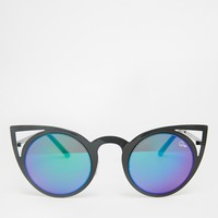Quay Australia Invader Cat Eye Mirror Sunglasses