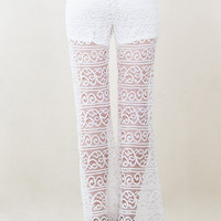 Crossed Hearts Lace Pants-S
