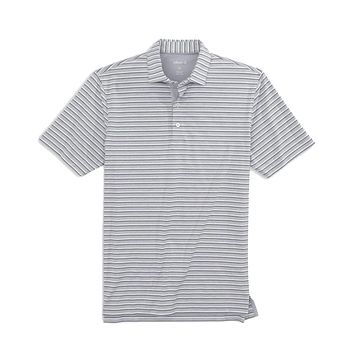 Zella Striped Prep-Formance Jersey Polo by Johnnie-O