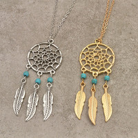 Dream Catcher Pendant Fashion Necklace