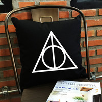 Deathly hallows Throw Pillow Harry potter Throw Pillow cover