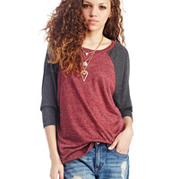 Cozy Knit Baseball Tee | Wet Seal