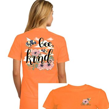 Southern Attitude Preppy Bee Kind T-Shirt