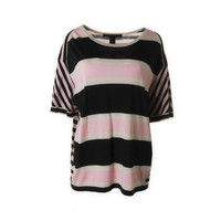 Marc by Marc Jacobs Womens Silk Striped Pullover Top