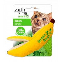 All For Paws Green Rush Canvas Banana Cat Toy - Infused with Catnip
