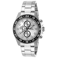 INVICTA Pro Diver Mens Chronograph - Silver Dial - Stainless Steel - Date - 100m