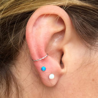 Silver Cartilage Hoop Tragus Daith Conch Rook Helix