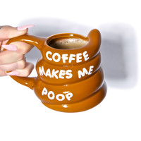 Big Mouth Toys Coffee Makes Me Poop Mug Multi One