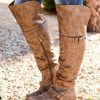 UP FOR ANYTHING BOOTS IN COGNAC