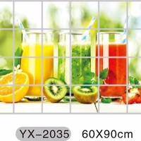 2016 New Free shipping 60cm*90cm Bottle kitchen waterproof and oil proof stickers home decor kitchen wall stickers