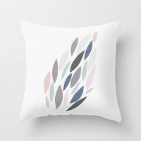 Leaves Throw Pillow by Lucy Driscoll | Society6