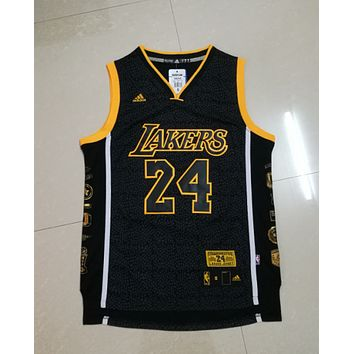 Best Deal Online Jerseys Los Angeles Lakers Kobe Bryant #24 Black Gold Mamba Special Retired Jersey