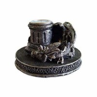 Dragon cone incense burner/ candle holder
