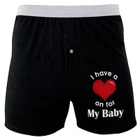 I Have a Heart On for My Baby Soft Knit Boxer