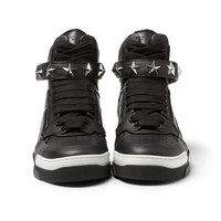 Givenchy - Tyson High-Top Leather Sneakers with Stars | MR PORTER