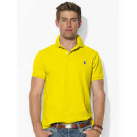 polo ralph lauren men's custom fit optic yellow polo - Google Search