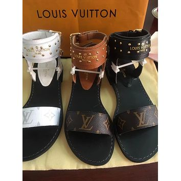 Louis Vuitton Fashion LV Women's Casual Running Sport Shoes Sneakers Slipper Sandals High Heels Shoes 06112