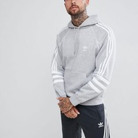 adidas Originals Authentic Hoody In Grey DH3852 at asos.com