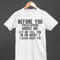 What I Heard. - S.J.Fashion - Skreened T-shirts, Organic Shirts, Hoodies, Kids Tees, Baby One-Pieces and Tote Bags