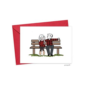 Day in the Park - Happy Anniversary philoSophie's Folded Greeting Card