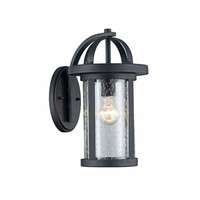 """Angelo, Transitional 1 Light Black Outdoor Wall Sconce 14"""" Height"""