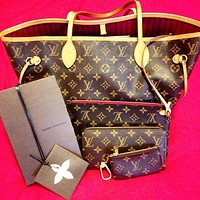 Inseva Trulym: LV Fashion Women 【Louis Vuitton】 Two piece And Key pouch-Coin purse