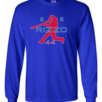 """Long Sleeve Anthony Rizzo Chicago Cubs """"Air Rizzo"""" T-Shirt ADULT SMALL"""