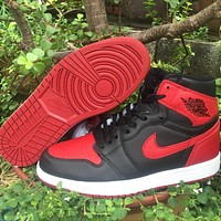 Air Jordan 1 High Bred Casual Sneakers Basketball Shoes
