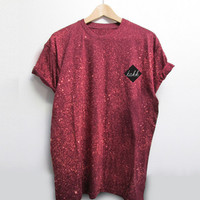 SPRAY ON TEE - BURGUNDY