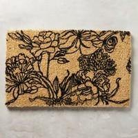 Line Drawing Doormat by Anthropologie in Neutral Size: One Size Rugs