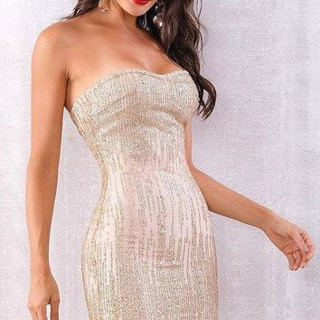 Dabria Sequin Bandage Dress