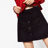MINI SKIRT WITH BUTTONS DETAILS