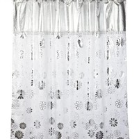 Popular Bath Phoenix Silver Shower Curtain