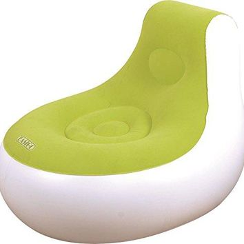By PoolCentral 36.5 inch  White and Green Inflatable Indoor/Outdoor  inch Easigo inch  Side Chair