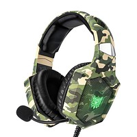 RUNMUS Gaming Headset for PS4, Xbox One, PC Headset w/Surround Sound, Noise Canceling Over Ear Headphones with Mic & LED Light, Compatible with PS4, Xbox One, Nintendo Switch, PC, PS3, Mac, Laptop Green