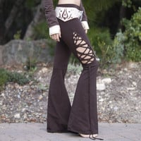 Stained Glass Teardrop Dance Pants - in Brown