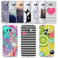Pattern Phone Cases For Samsung Galaxy S9 S8 Plus S7 Edge Note8 A5 A6 A7 A8 Plus 2018 J3 J4 J6 J5 J7 2017 2018 Soft TPU Cover