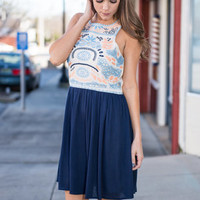 Attention To Detail Dress, Navy